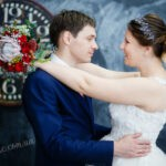 Синяя свадьба в стиле модерн